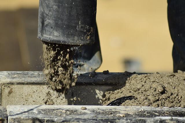beton öntözése