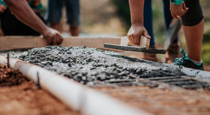 Estrich betonozás